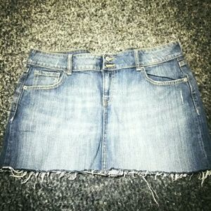 Old Navy Denim Jean Stretch MiNi Skirt 14 rAW